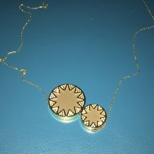 House of Harlow 1960 pendant sunburst necklace